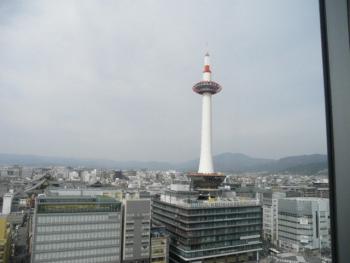 こけこっこから見る京都タワー