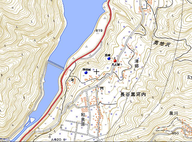 八人塚地図①