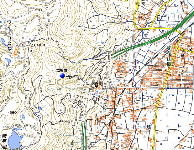 塩崎城地図①