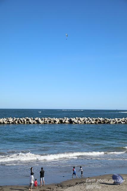 Earth photo message296 秋の海に