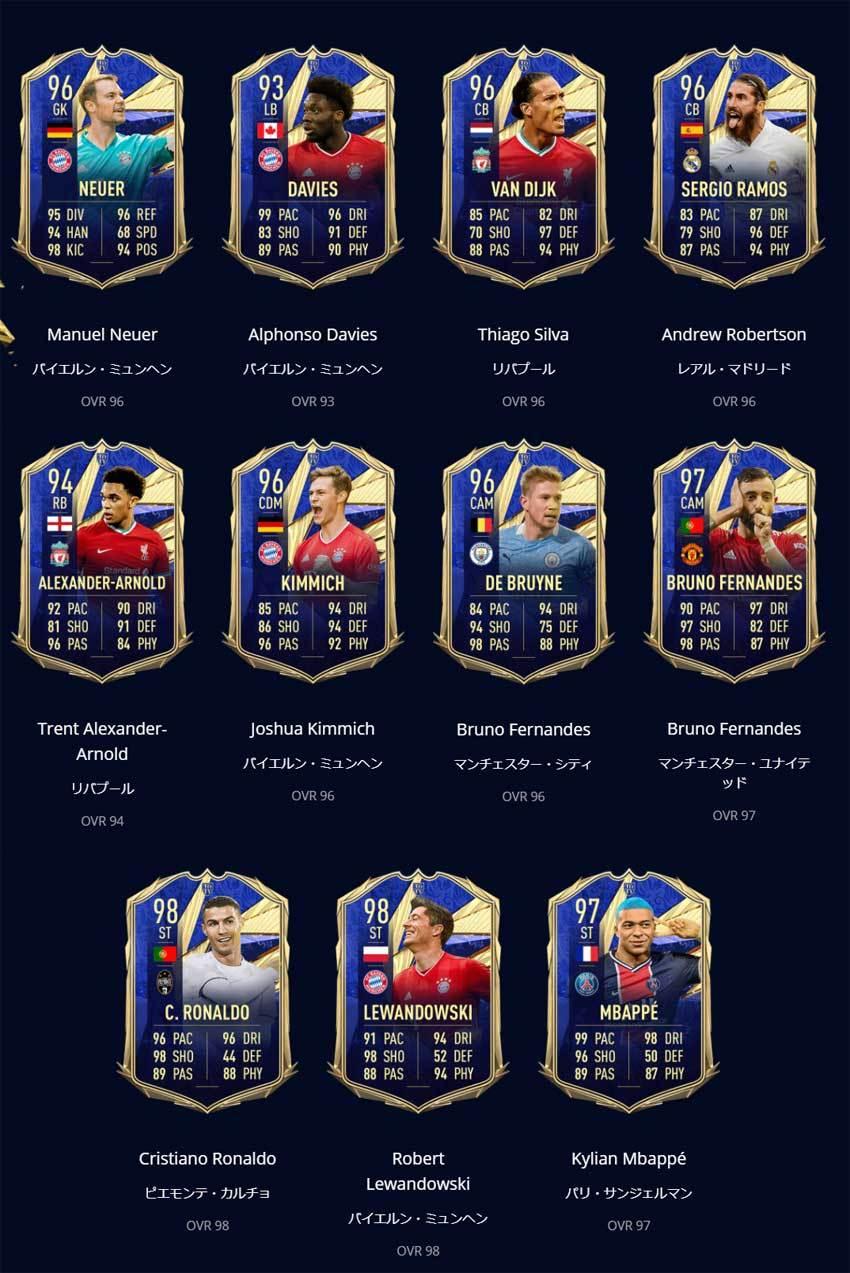 FIFA21 Swirch版 TOTY