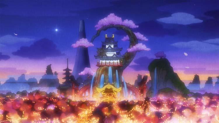 ワンピース アニメ ワノ国 花の都 火祭り
