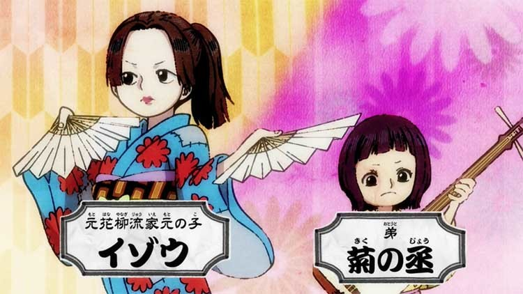 ワンピース アニメ イゾウ 菊の丞