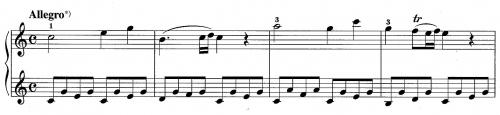 モーツァルトK.545提示部第1主題