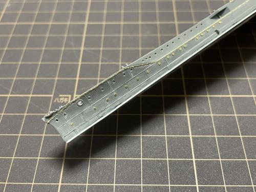 日本海軍 高速戦艦『金剛(1944年 サマール沖海戦時)』 船体 製作中EtakqfWVgAUHDrc◆模型製作工房 聖蹟