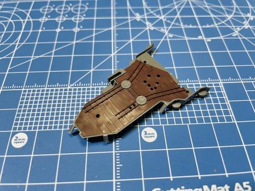 日本海軍 高速戦艦 『金剛』 1944 サマール沖海戦時 飛行甲板作り開始Ev2fTOtUYAA0Xq2◆模型製作工房 聖蹟