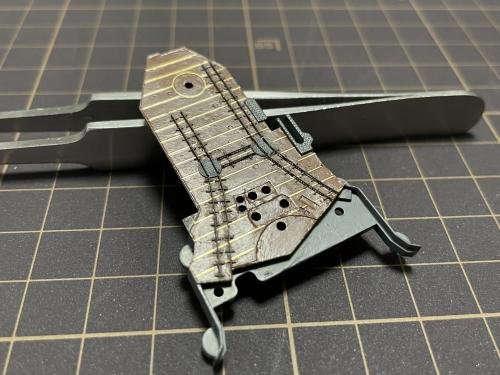 日本海軍 高速戦艦 『金剛』 1944 サマール沖海戦時 飛行甲板製作中EwR2S3OVEAQ4WC6◆模型製作工房 聖蹟