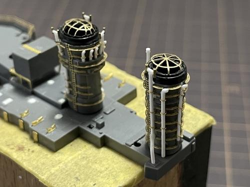 日本海軍 高速戦艦『金剛(1944年 サマール沖海戦時)』  煙突 製作中IMG_1790◆模型製作工房 聖蹟