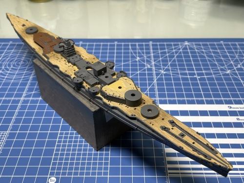 日本海軍 高速戦艦 『金剛』 1944 サマール沖海戦時 製作中 IMG_4031◆模型製作工房 聖蹟