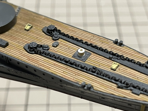 日本海軍 高速戦艦 『金剛』 1944 サマール沖海戦時 製作中 錨甲板 キャプスタン工作E0vOm74VkAEFJIx◆模型製作工房 聖蹟