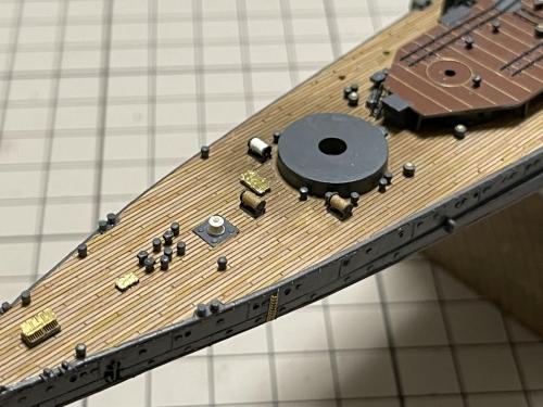 日本海軍 高速戦艦 『金剛』 1944 サマール沖海戦時 製作中 ホーサーリール設置 IMG_4808◆模型製作工房 聖蹟