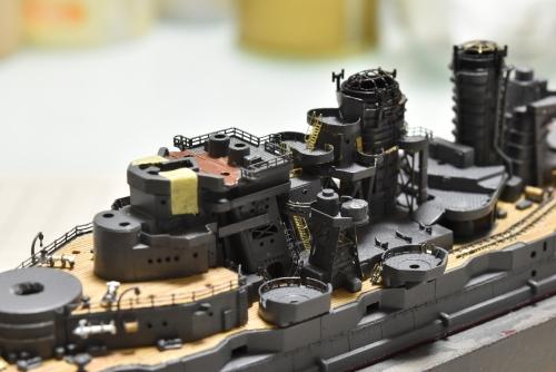 日本海軍 高速戦艦 『金剛』 1944 サマール沖海戦時 中央部製作中 DSC_0272◆模型製作工房 聖蹟