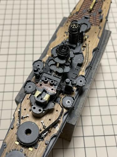 日本海軍 高速戦艦 『金剛』 1944 サマール沖海戦時 中央部製作中 IMG_5079◆模型製作工房 聖蹟