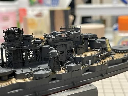 日本海軍 高速戦艦 『金剛』 1944 サマール沖海戦時 艦橋製作中 E2D5O_EVcAEk7B8◆模型製作工房 聖蹟