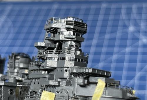 日本海軍 高速戦艦 『金剛』 1944 サマール沖海戦時 艦橋製作中 窓ガラス表現 E2n10GkVUAMH-zv◆模型製作工房 聖蹟