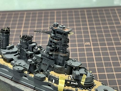 日本海軍 高速戦艦『金剛(1944年 サマール沖海戦時)』 製作中 艦橋積み上げ完了 E3BnH-tVIAcOt2◆模型製作工房 聖蹟