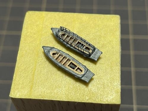 日本海軍 高速戦艦 『金剛』 1944 サマール沖海戦時 12メートル内火ランチ製作中 E2ebDFnVoAo8pE5◆模型製作工房 聖蹟