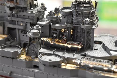 日本海軍 高速戦艦 『金剛』 1944 サマール沖海戦時 製作中 搭載艇設置 E3y44LSVgAQdNs8◆模型製作工房 聖蹟