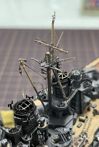 日本海軍 高速戦艦 『金剛』 1944 サマール沖海戦時 後部マスト製作中2masutoE43_qsDVoAInYRi◆模型製作工房 聖蹟