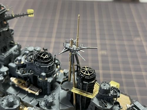 日本海軍 高速戦艦 『金剛』 1944 サマール沖海戦時 後部マスト製作中E4kR5jkVEAgGMqN◆模型製作工房 聖蹟