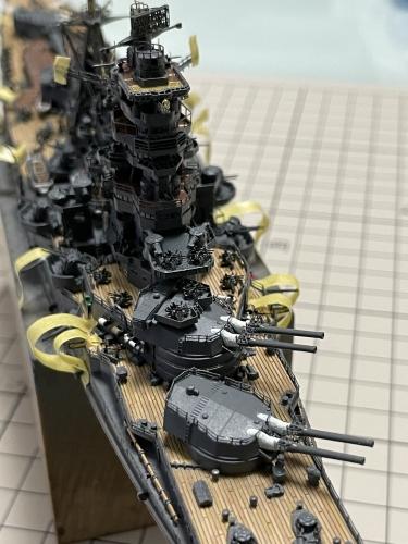 日本海軍 高速戦艦 『金剛』 1944 サマール沖海戦時 製作中 主砲身設置! IMG_6161◆模型製作工房 聖蹟