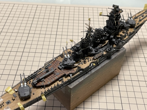 日本海軍 高速戦艦 『金剛』 1944 サマール沖海戦時 製作中 主砲身設置! IMG_6266◆模型製作工房 聖蹟
