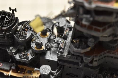 日本海軍 高速戦艦『金剛(1944年 サマール沖海戦時)』 製作中 信号旗収納箱 設置E5pb7WxVcAcrOSv◆模型製作工房 聖蹟