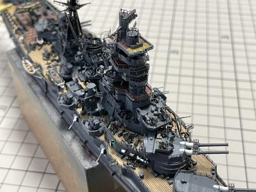日本海軍 高速戦艦 『金剛』 1944 サマール沖海戦時 製作中 マントレット装着前E55Kr0oVIAITfsR◆模型製作工房 聖蹟