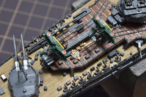 日本海軍 高速戦艦『金剛(1944年 サマール沖海戦時)』 製作中 甲板物品設置E62mEhpVUAA_OUy◆模型製作工房 聖蹟