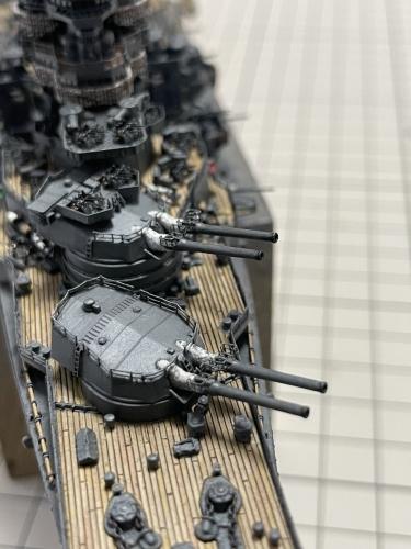 日本海軍 高速戦艦『金剛(1944年 サマール沖海戦時)』 製作中 砲口煤表現 E7NbxizVEAcQ9EI◆模型製作工房 聖蹟