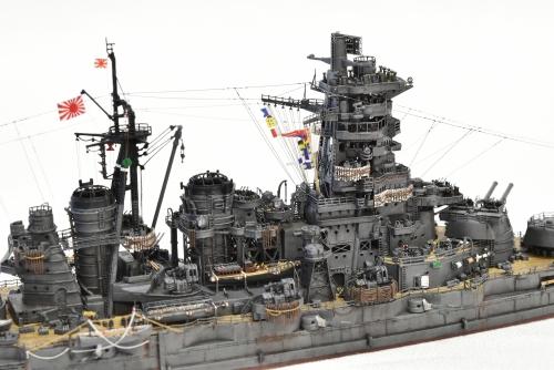 日本海軍 高速戦艦 【金剛】1944 サマール沖海戦時DSC_0265-1◆模型製作工房 聖蹟