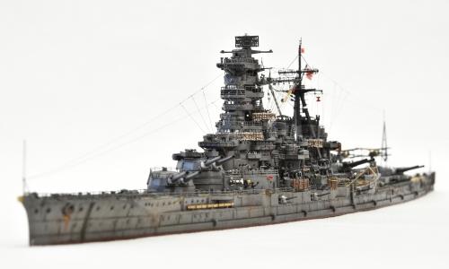 日本海軍 高速戦艦 【金剛】1944 サマール沖海戦時DSC_0552-1-2◆模型製作工房 聖蹟
