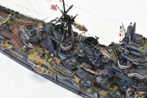日本海軍 高速戦艦 【金剛】1944 サマール沖海戦時DSC_0704-1◆模型製作工房 聖蹟