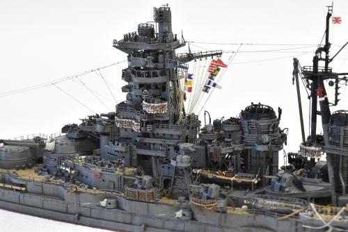 日本海軍 高速戦艦 【金剛】1944 サマール沖海戦時DSC_0894-1◆模型製作工房 聖蹟