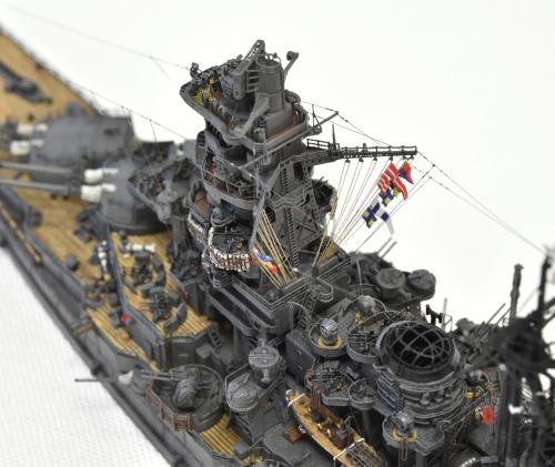 日本海軍 高速戦艦 【金剛】1944 サマール沖海戦時DSC_0909-1-3◆模型製作工房 聖蹟