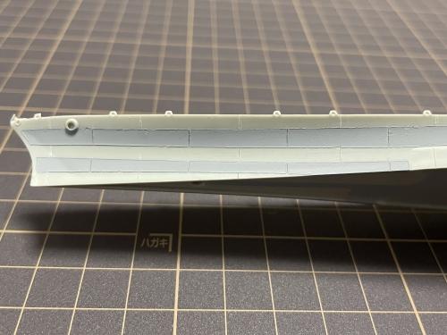 米海軍大型巡洋艦『アラスカ』 製作中 鋼板繋ぎ目表現 縦線工作E-UA07nVcAcn5AC◆模型製作工房 聖蹟
