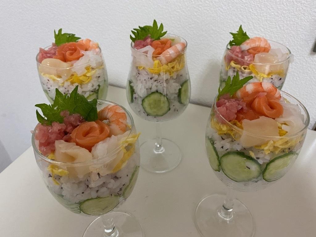 ワイングラス寿司①