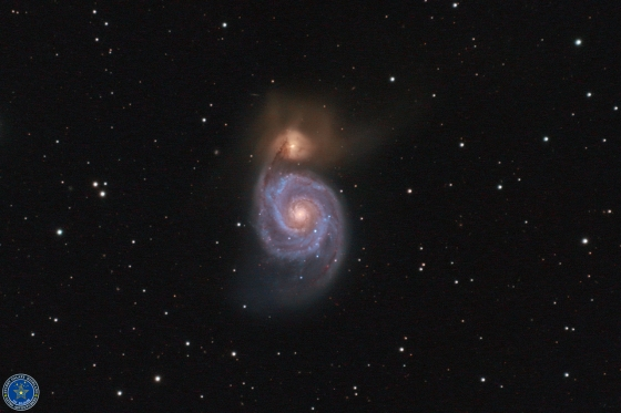 子持ち銀河(M51)~銀河衝突+