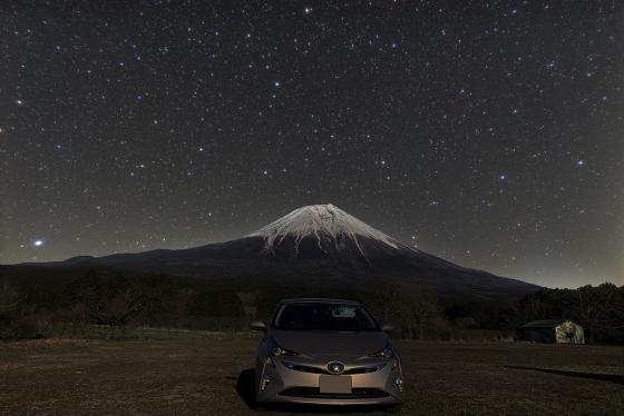 富士山星景写真