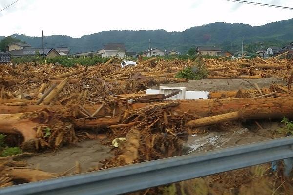 2017年北部九州水害 流木被害