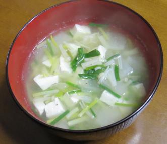 アサツキ味噌汁