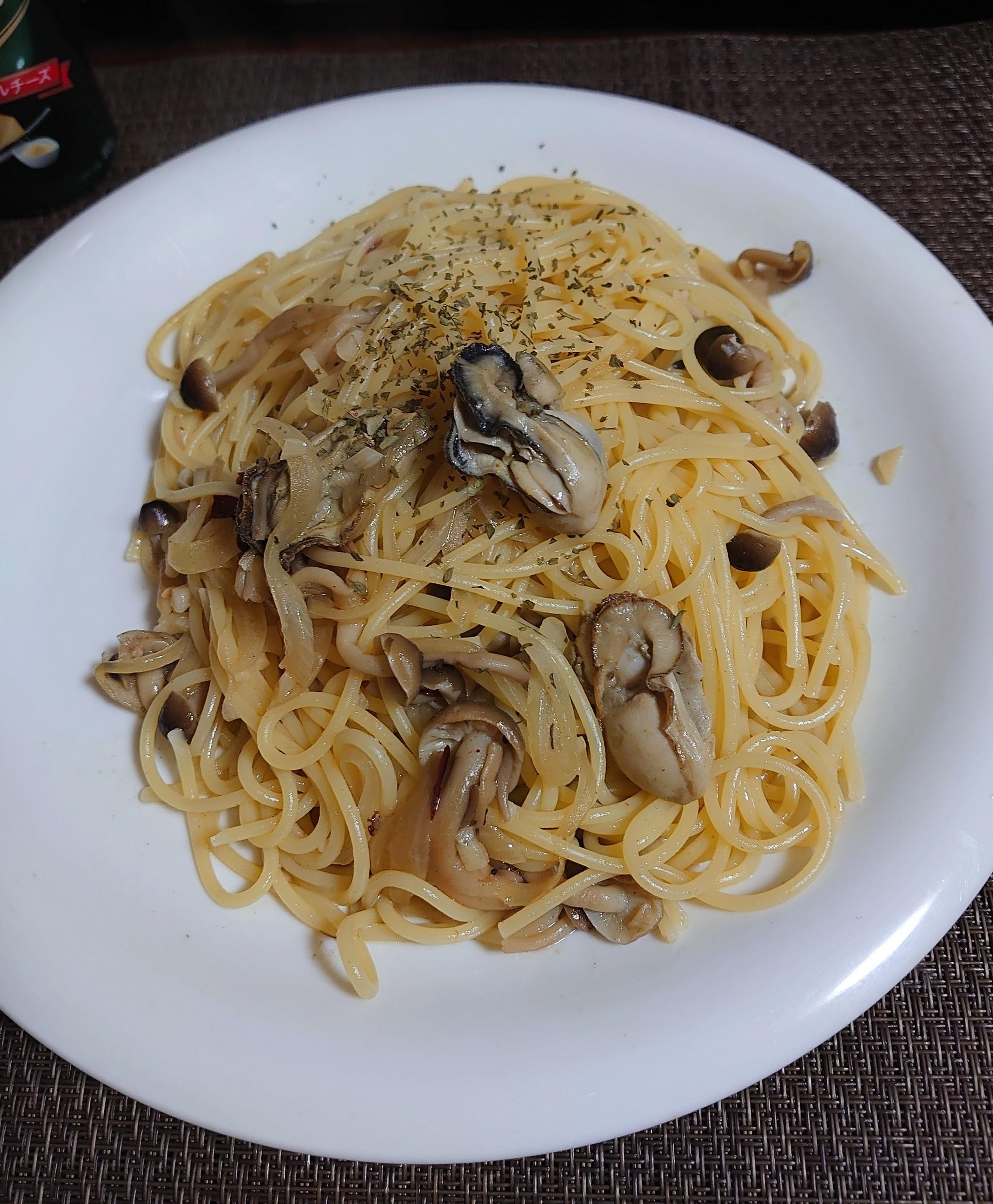のペペロンチーノ牡蠣