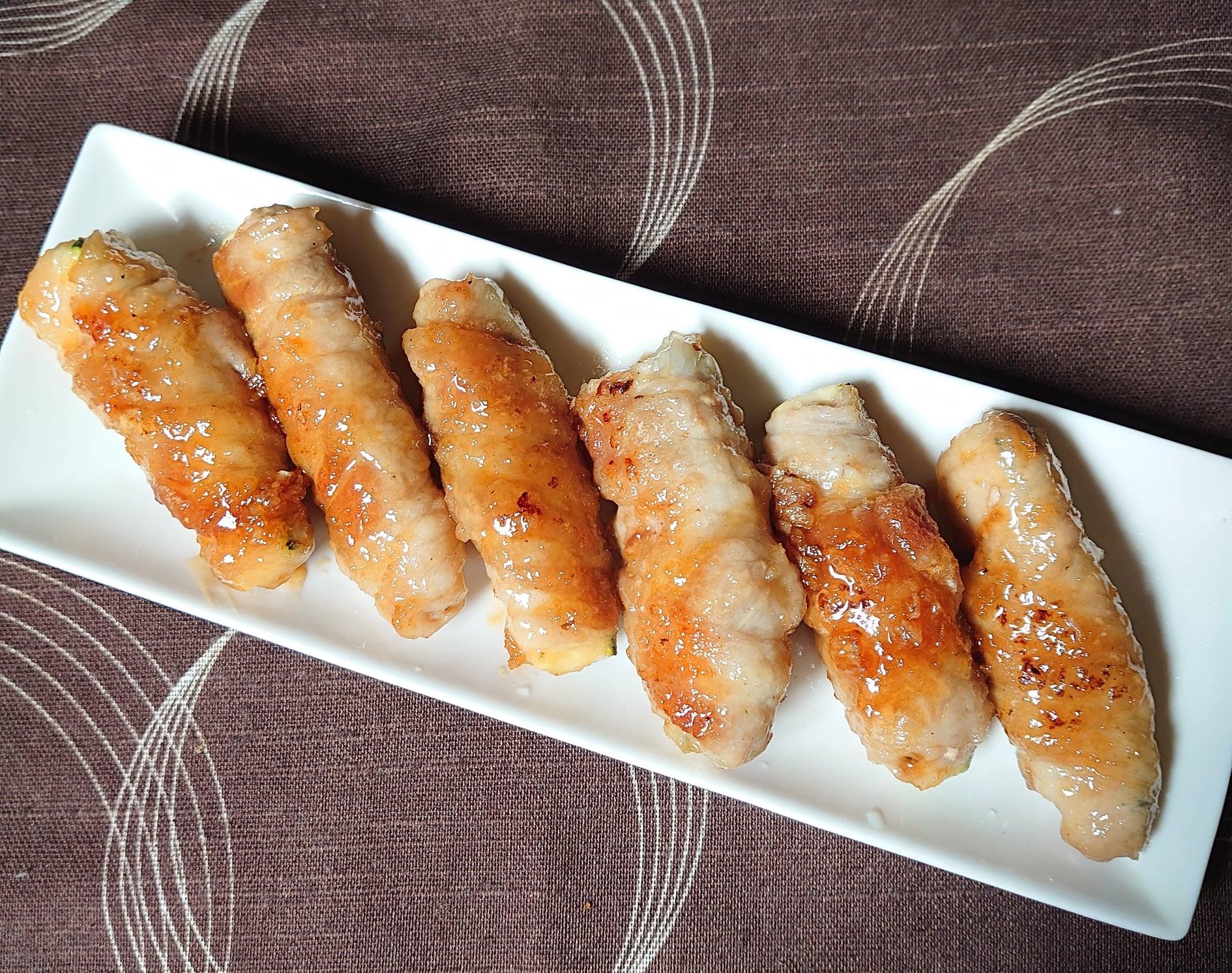 ズッキーニの豚肉肉巻き