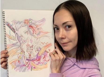 【鬼滅】土屋アンナが禰豆子のイラストを描き大絶賛される ⇒ 模写がバレ炎上