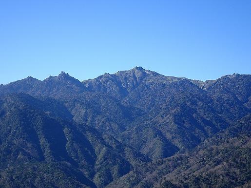 太鼓岩から望む宮之浦岳12月26日