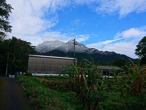 雪が積もる前岳