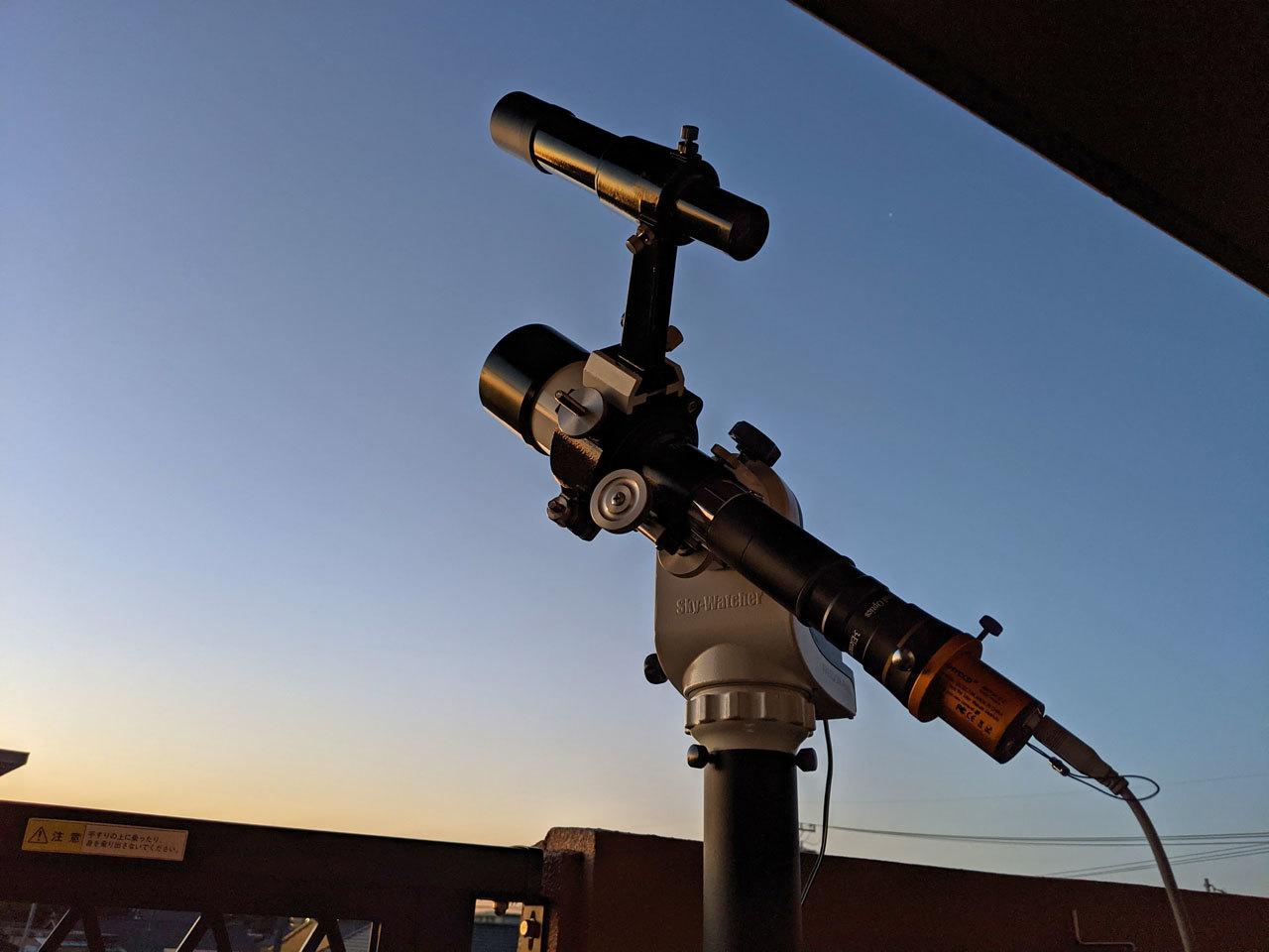 2021年10月3日早朝 月齢25.8 撮影風景