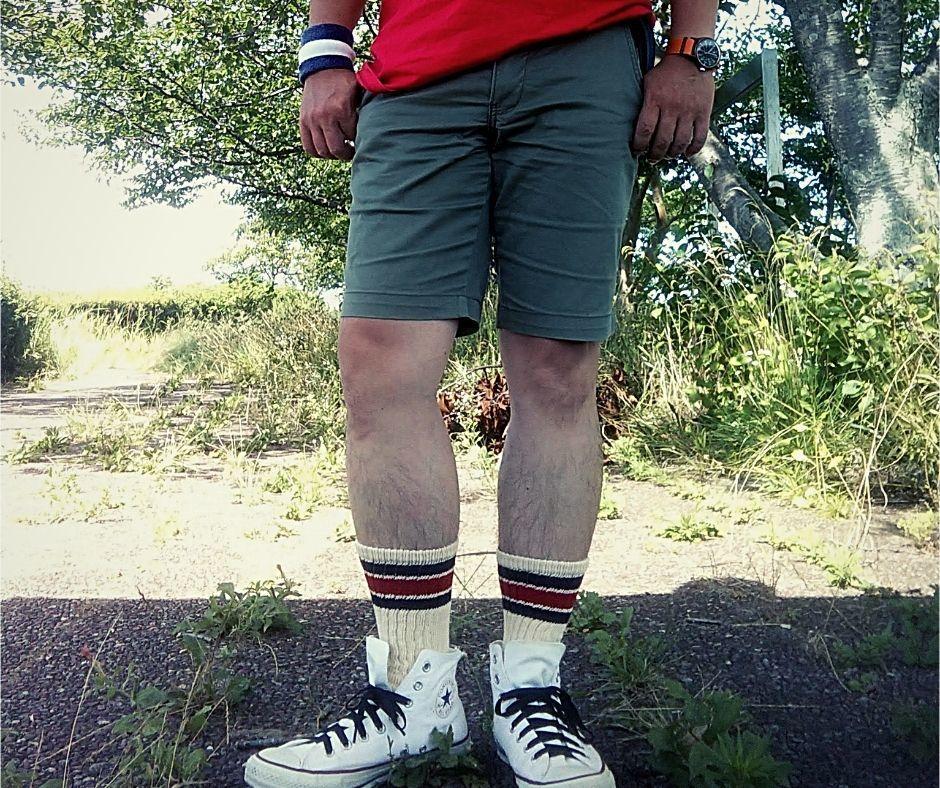 アメカジ ショートパンツ 着こなし方 コーデ コーディネート 50代 メンズ