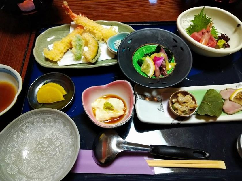 刺身、天ぷら、先付