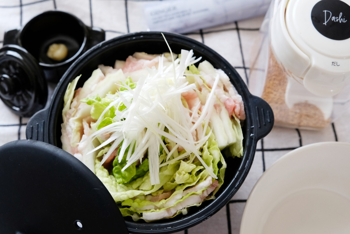ダイソー・シリコーン小鍋・ミルフィーユ鍋②